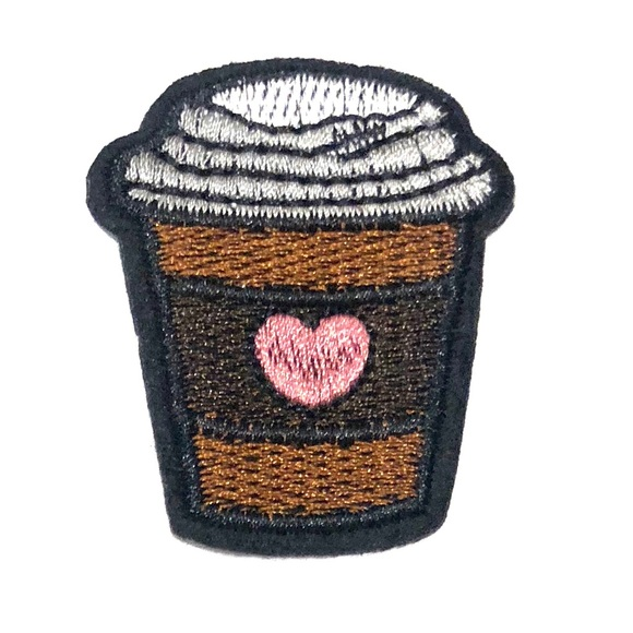 Hot Chocolate patch iron on cocoa cute DIY Badge Boutique